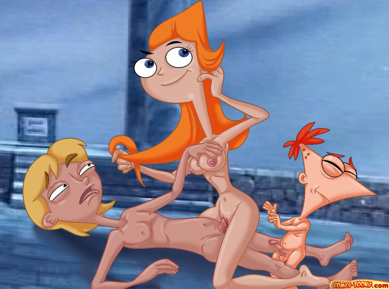 ferb candace and naked phineas Zootopia judy hopps