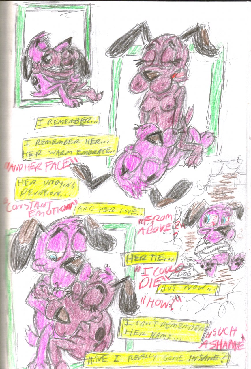 dog courage mask the ustes cowardly 3d girl raped by monster