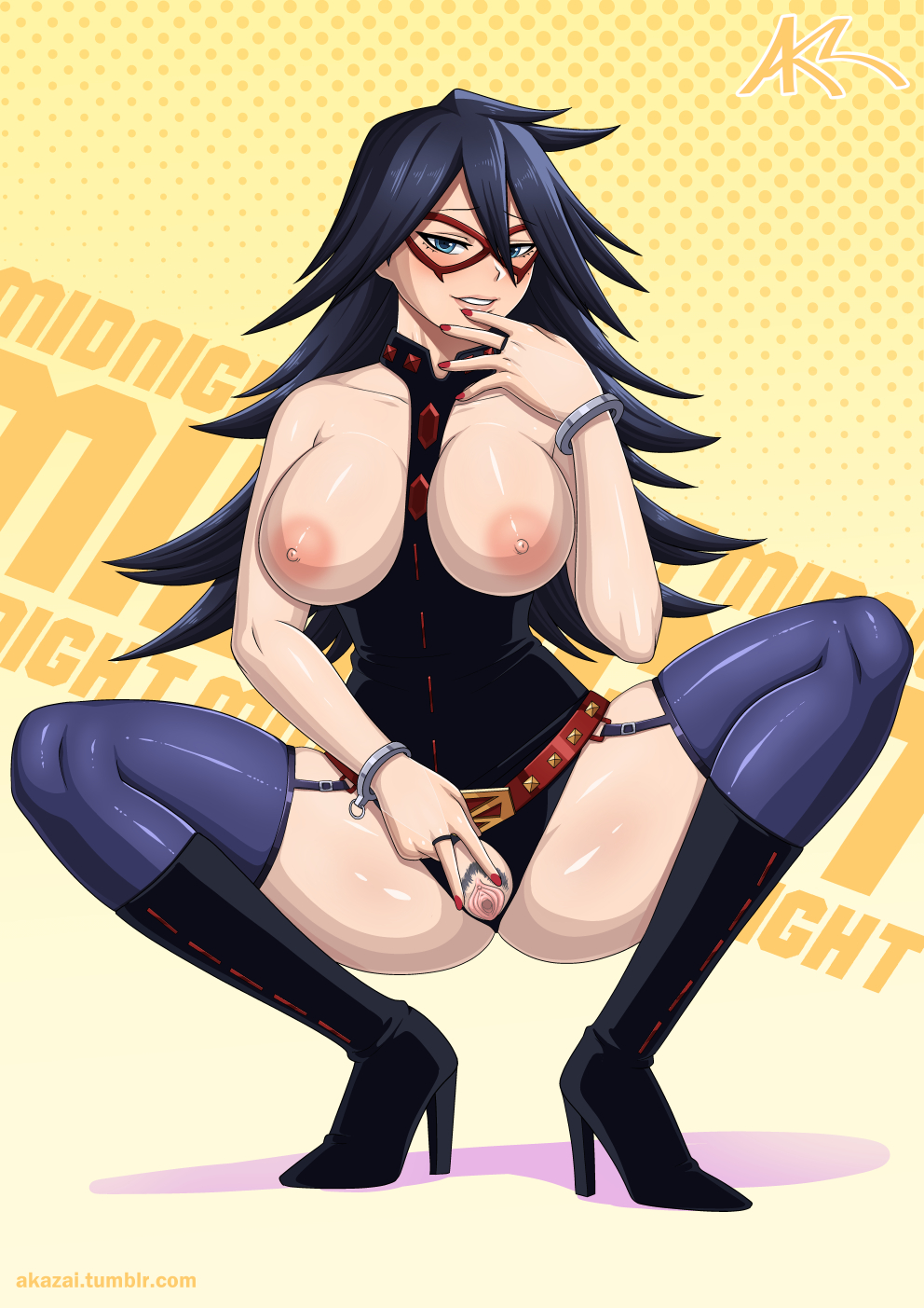 my academia hero midnight naked Dragon quest xi bunny tail